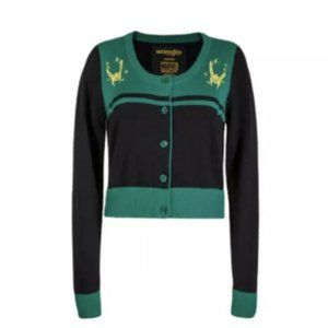 Marvel Avengers Loki sweater cardigan NEW NIP